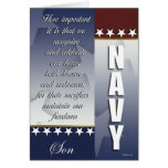 Patriotic Navy Troop Support Card - Son Card