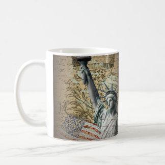 Patriotic NewYork Statue of Liberty vintage Mugs