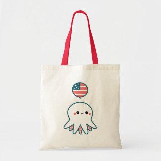 Patriotic Octopus Budget Tote Bag
