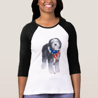 Patriotic Old English Sheepdog T-Shirt