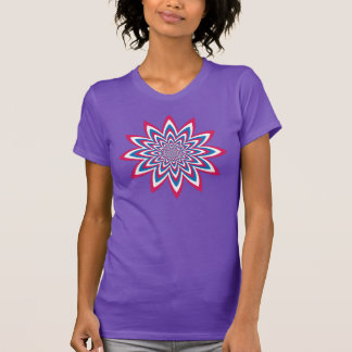 Patriotic Op Art Flower T-Shirt