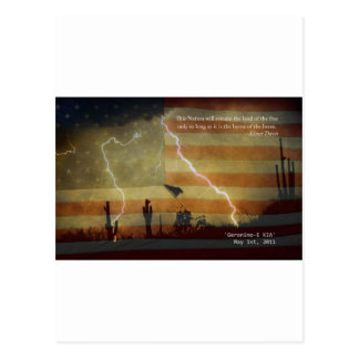 Patriotic Operation Geronimo-E KIA Postcard