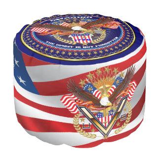 Patriotic or Veteran View About Design Pouf