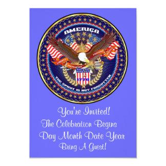 Patriotic or Veteran View Artist Comments 13 Cm X 18 Cm Invitation Card