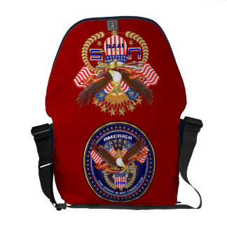 Patriotic or Veteran View Artist Comments Courier Bags