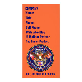Patriotic or Veteran View Artist Comments Personalised Photo Card