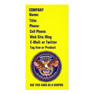 Patriotic or Veteran View Artist Comments Personalized Photo Card