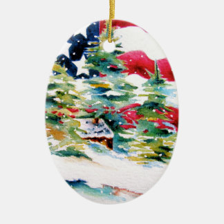 Patriotic Oval American Flag Ornament
