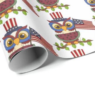 Patriotic owl water melon cookout party wrap