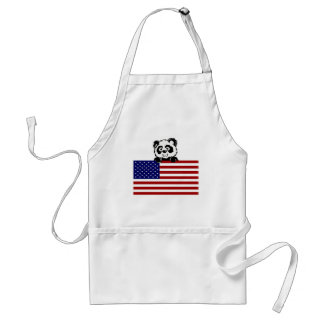 Patriotic Panda Standard Apron
