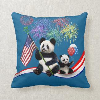 Patriotic Pandas Cushion