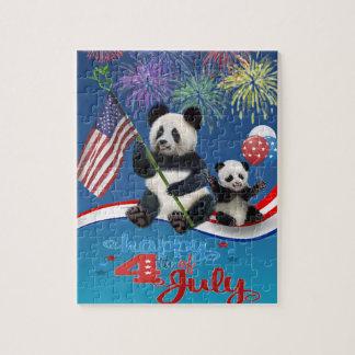 Patriotic Pandas Jigsaw Puzzle