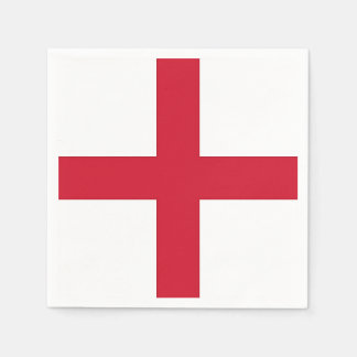 Patriotic paper napkins with England flag
