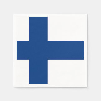 Patriotic paper napkins with Finland flag Disposable Napkin