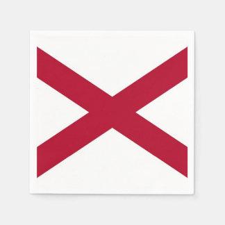 Patriotic paper napkins with flag of Alabama, USA