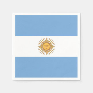 Patriotic paper napkins with flag of Argentina