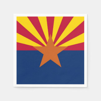 Patriotic paper napkins with flag of Arizona, USA