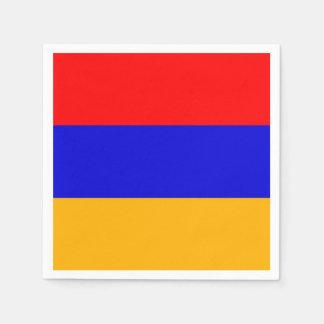 Patriotic paper napkins with flag of Armenia