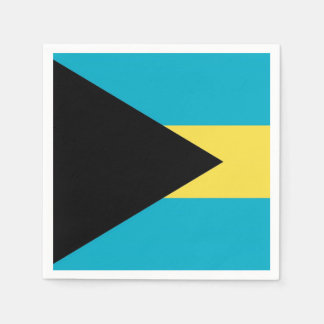 Patriotic paper napkins with flag of Bahamas