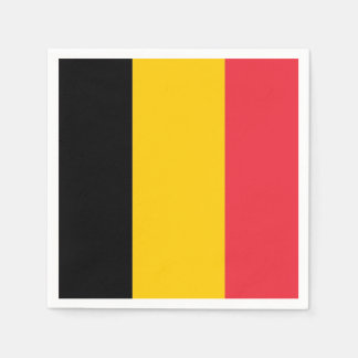 Patriotic paper napkins with flag of Belgium