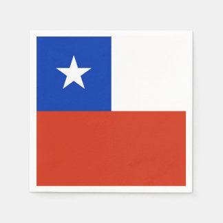 Patriotic paper napkins with flag of Chile