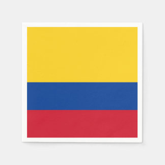 Patriotic paper napkins with flag of Colombia