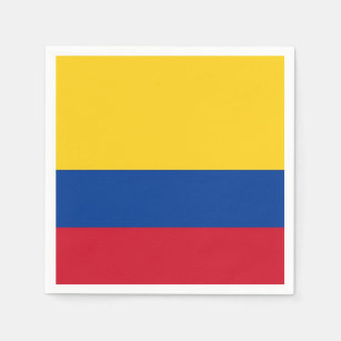 Patriotic paper napkins with flag of Colombia Disposable Napkin