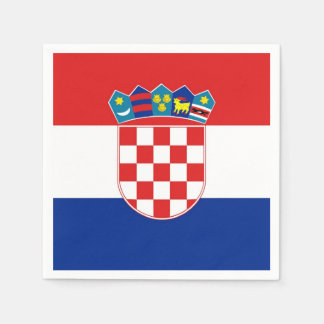 Patriotic paper napkins with flag of Croatia