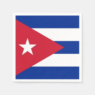 Patriotic paper napkins with flag of Cuba