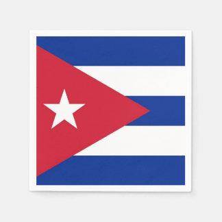 Patriotic paper napkins with flag of Cuba Disposable Serviette