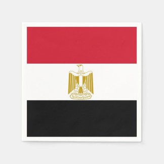 Patriotic paper napkins with flag of Egypt