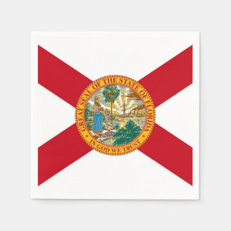 Patriotic paper napkins with flag of Florida