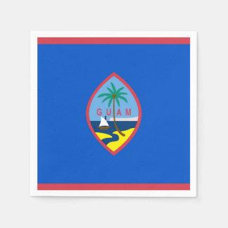 Patriotic paper napkins with flag of Guam