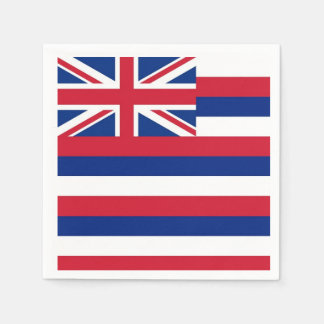 Patriotic paper napkins with flag of Hawaii Disposable Serviette