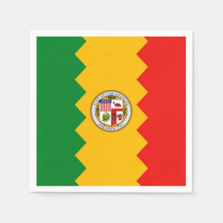 Patriotic paper napkins with flag of Los Angeles