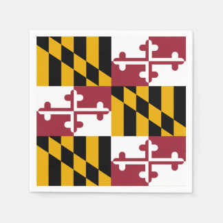 Patriotic paper napkins with flag of Maryland Disposable Napkin