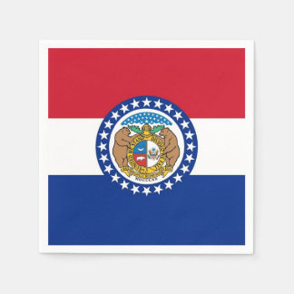Patriotic paper napkins with flag of Missouri