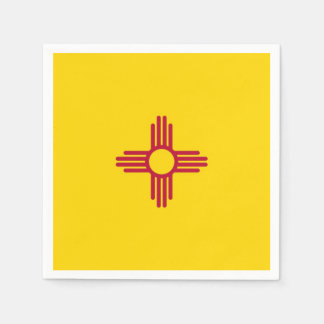 Patriotic paper napkins with flag of New Mexico