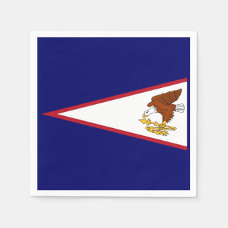 Patriotic paper napkins with flag of Samoa, USA Disposable Serviette