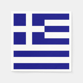 Patriotic paper napkins with Greece flag Disposable Napkin
