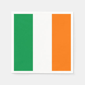 Patriotic paper napkins with Ireland flag