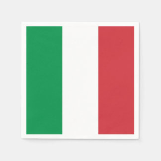 Patriotic paper napkins with Italy flag