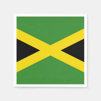 Patriotic paper napkins with Jamaica flag