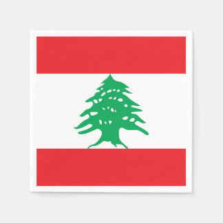 Patriotic paper napkins with Lebanon flag