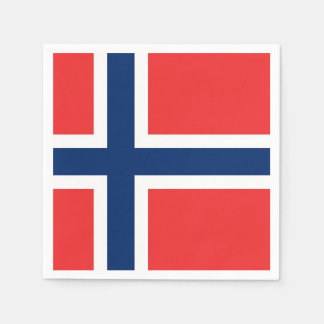 Patriotic paper napkins with Norway flag