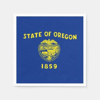 Patriotic paper napkins with Oregon flag
