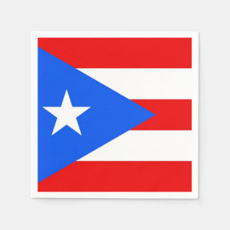 Patriotic paper napkins with Puerto Rico flag