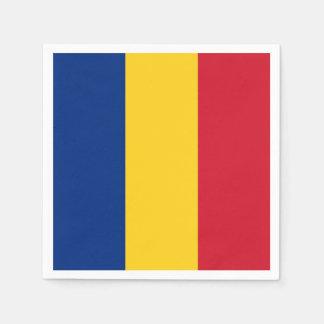 Patriotic paper napkins with Romania flag