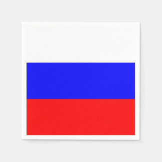 Patriotic paper napkins with Russia flag