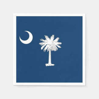 Patriotic paper napkins with South Carolina flag